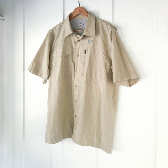 Under Armour Other - Under Armour Vented Fishing Hunting Safari Shirt L